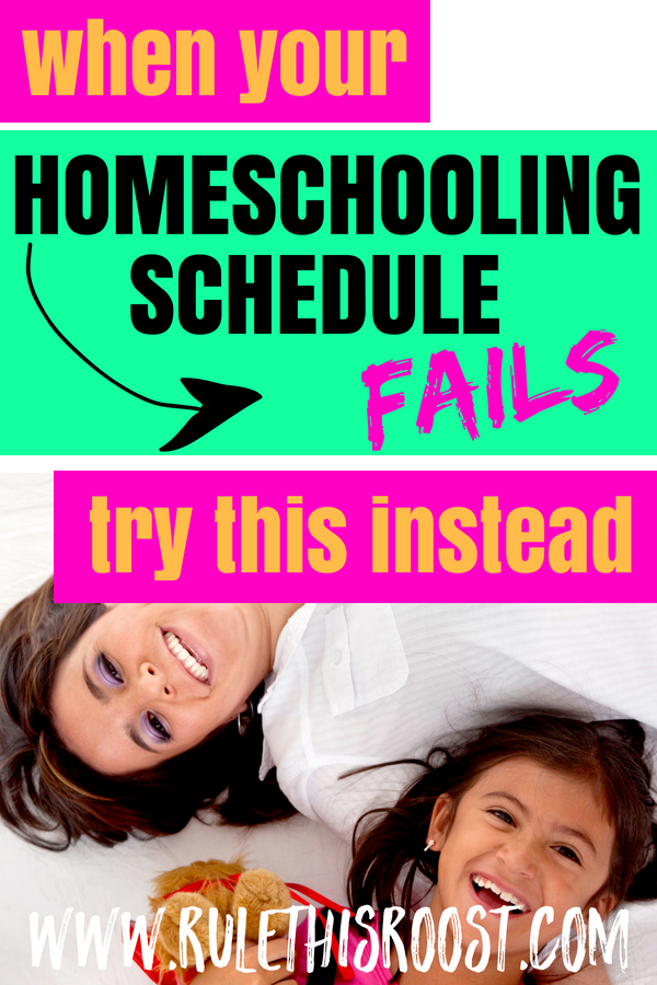 Homeschool Rhythm. What do you do when a homeschooling schedule doesn't work? Tips, tricks and advice.