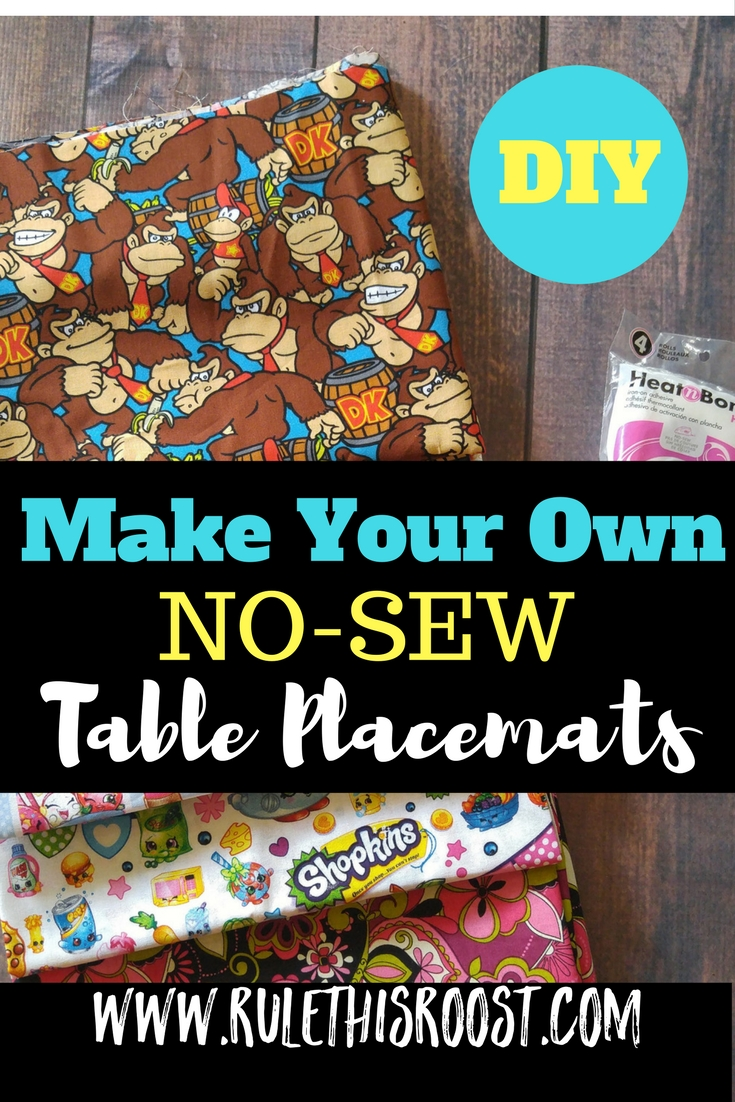 No-Sew Table Placemats