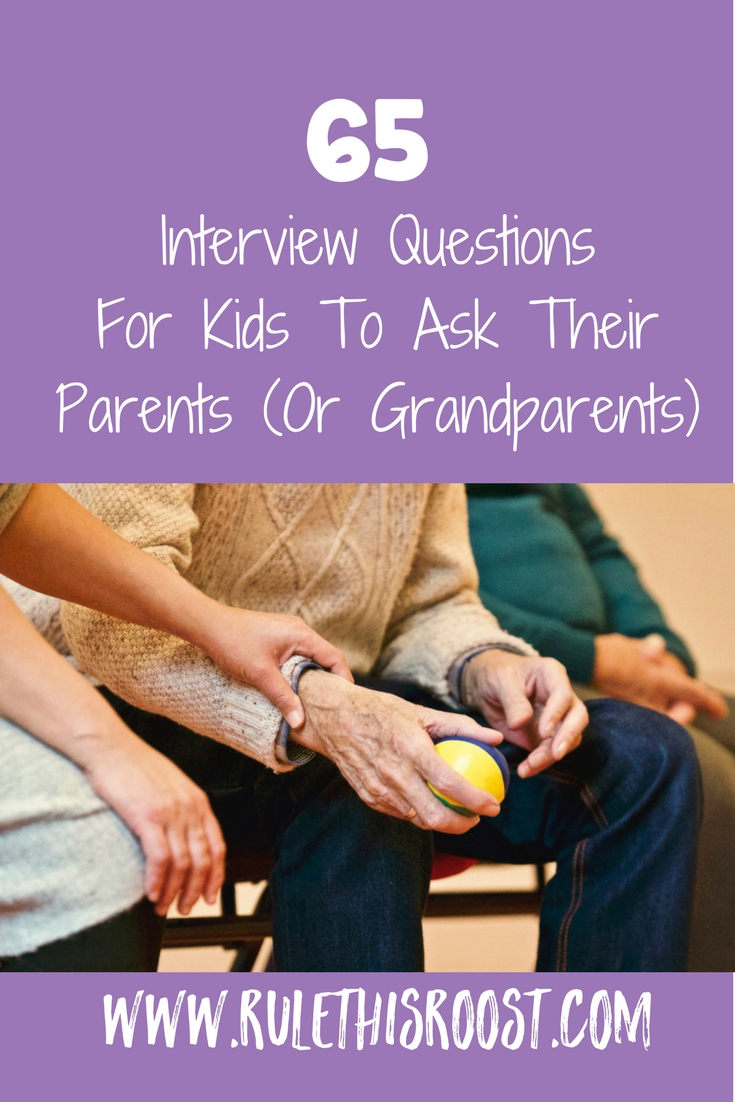 65 Interview Questions for Kids to Ask Their Parents or