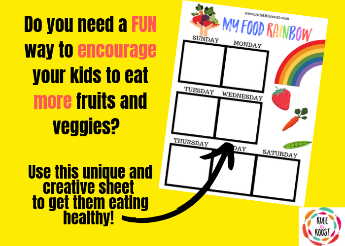 Food Rainbow for picky eaters