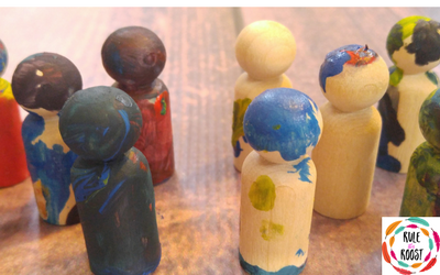 Celebrating MLK, Jr. Day with Peg Doll Painting