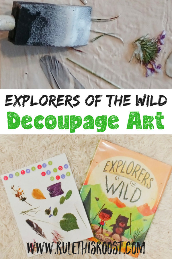 Explorers of the Wild decoupage art