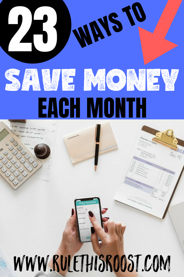 23 Ways to Save Money Each Month