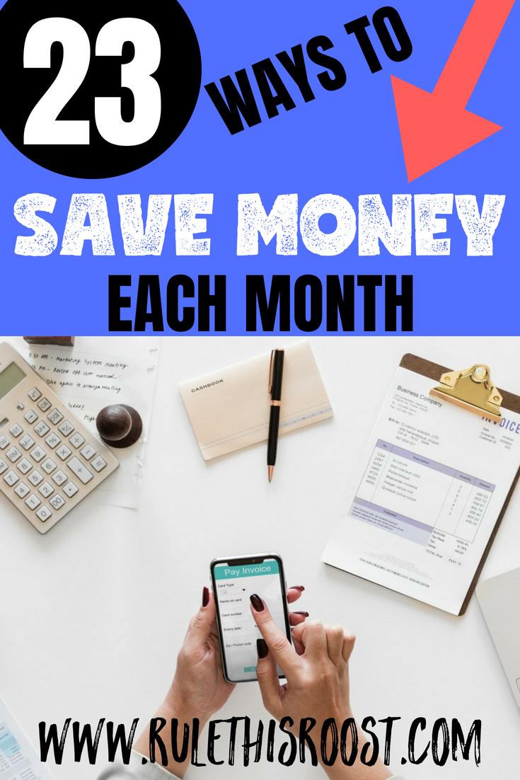 23 Ways to Save Money Each Month