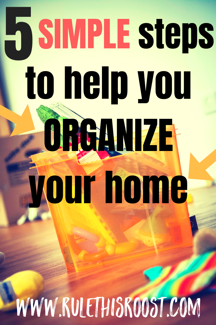 If you're looking for tips to help you get organized, look no further! These 5 tips will help you organize your home so you can live in peace!