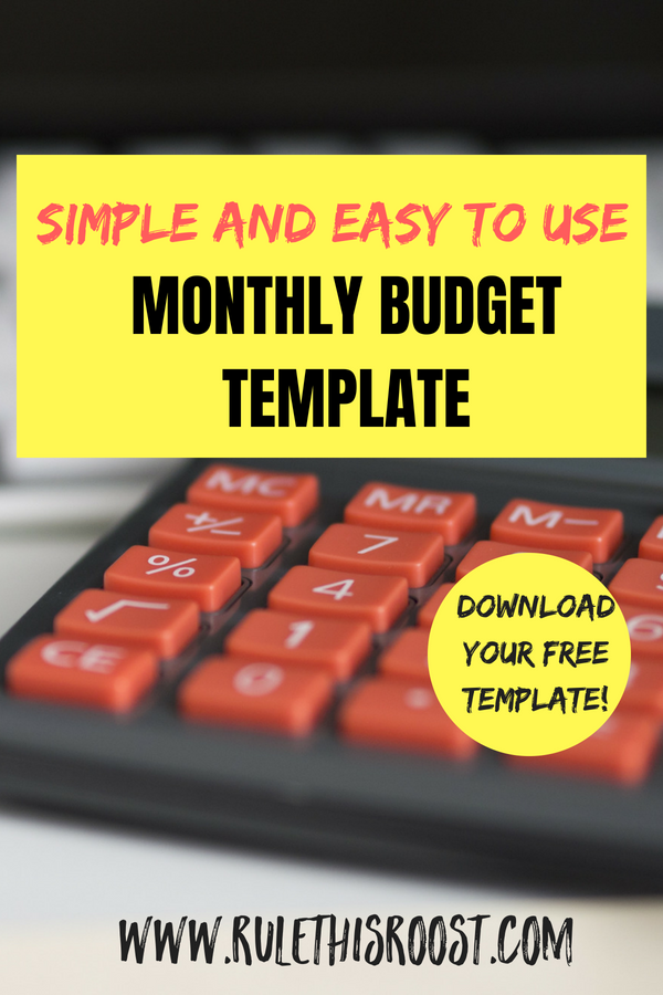 a simple and easy to use monthly budgeting template rule this roost