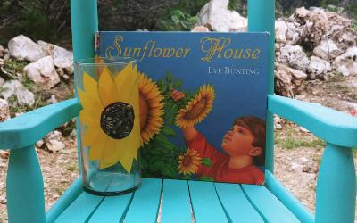 Sunflower House Decoupage Flower Vase