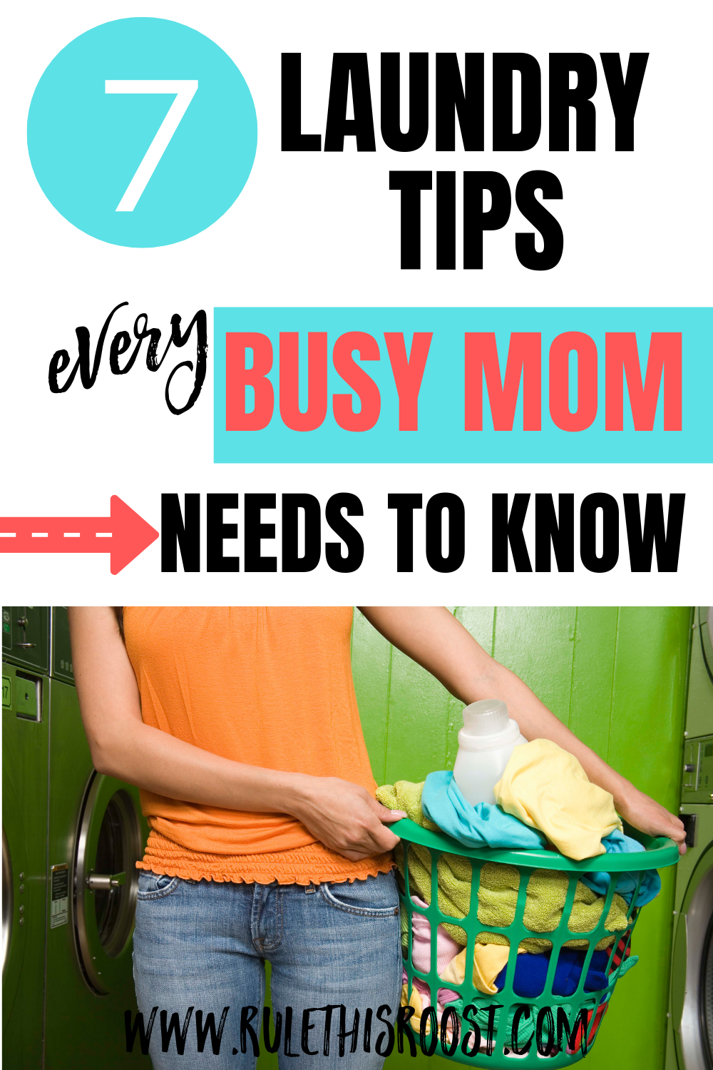 7 Laundry Tips Every Busy Mom Needs to Know. These tips for laundry will make your job so much easier. Work through the overwhelm and get down to business. Laundry has never been so simple. #laundrytips #laundry #momlife #busymom #laundryadvice