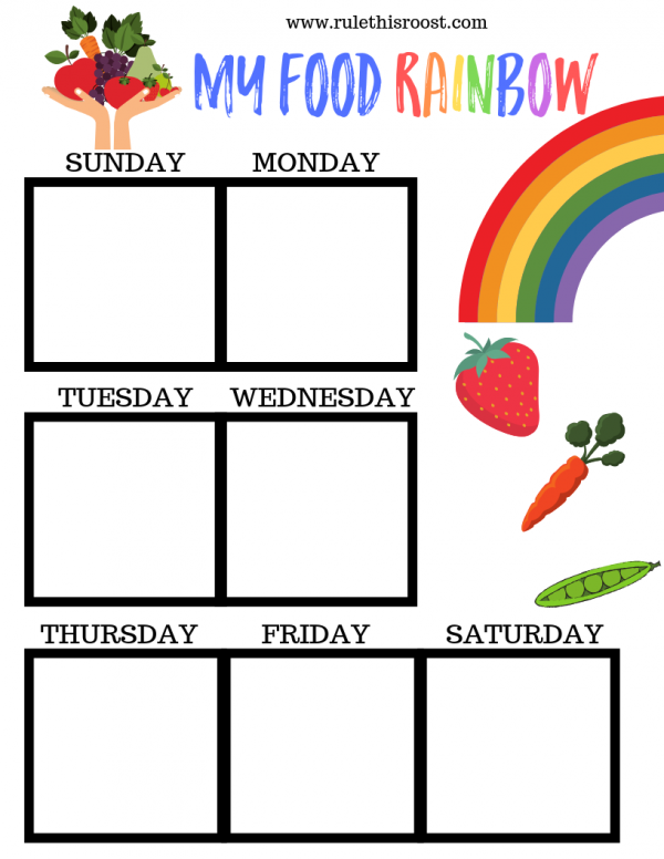 food rainbow nutrition hack