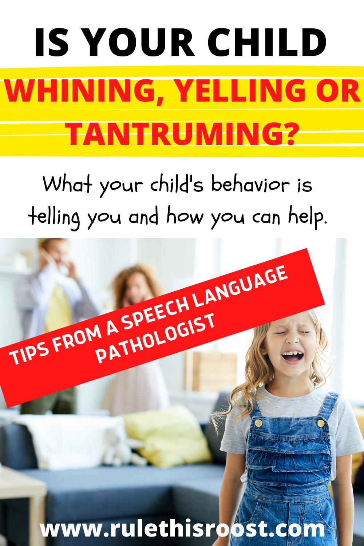 whining tantruming yelling